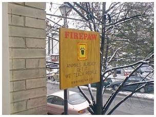 firepaw signage outside angled