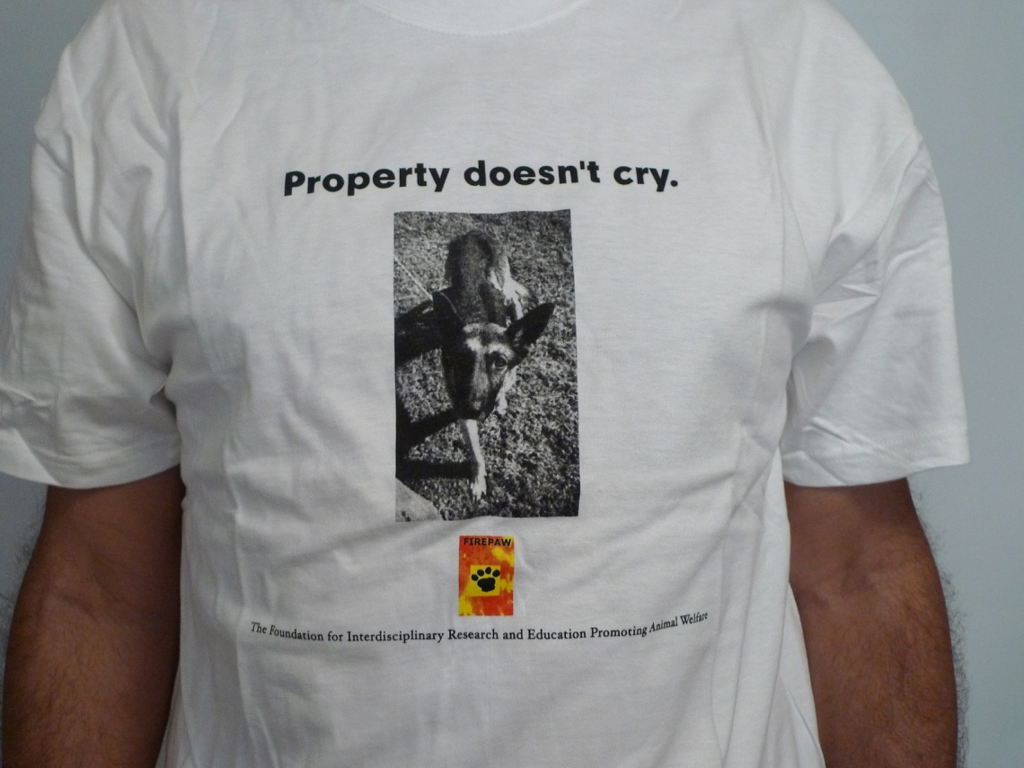FIREPAW Tshirt-property doesnt cry 2